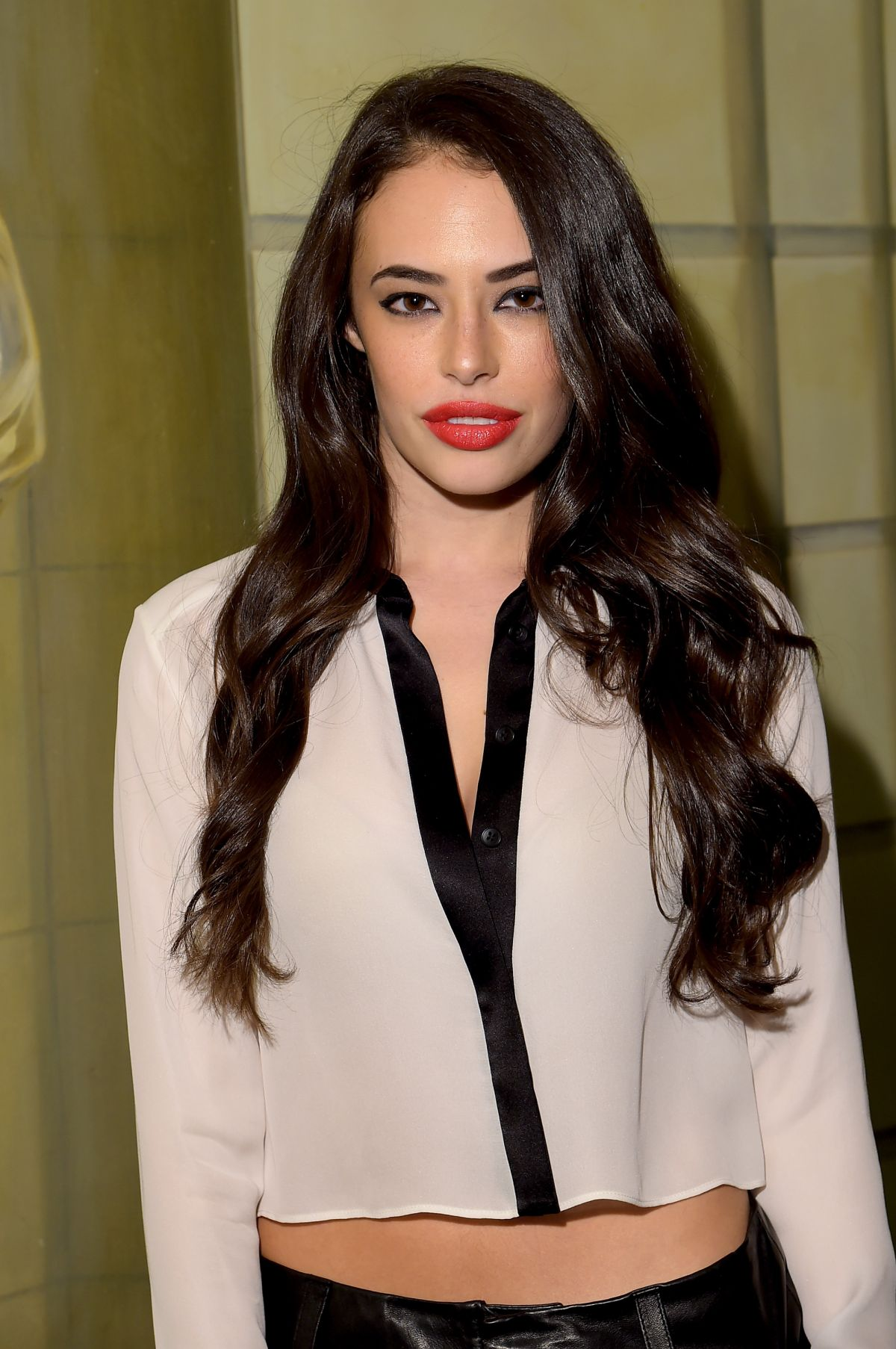 CHLOE BRIDGES at Alice+Olivia by Stacey Bendet Fashion Show in New York