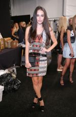 CHLOE BRIDGES at Nicole Miller Fashion Show in New York