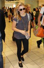 CHLOE MORETZ Arrives at Pearson International Airport in Toronto