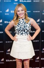 CHLOE MORETZ at Advanced Screening of The Equalizer
