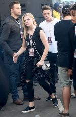 CHLOE MORETZ at Budweiser Made in America Music Festival, Day 2