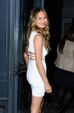 CHRISSY TEIGEN in Tight Dress Out in New York
