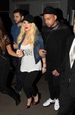 CHRISTINA AQUILERA at Drake vs Lil Wayne Concert in Hollywood