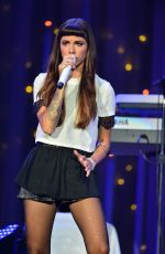 CHRISTINA PERRI Performs at Demi World Tour at American Airlines Arena in Miami