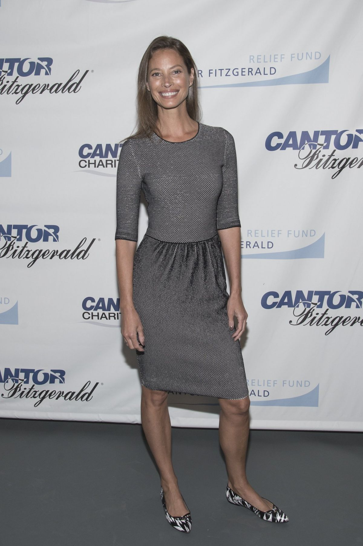 CHRISTY TURLINGTON at Charity Day Hosted by Cantor Fitzgerald and BGC in New York