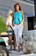 CINDY CRAWFORD on the Set of a Commercial in Miami