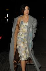 DAISY LOWE Arrives at Jonathan Saunders Fashion Show in London