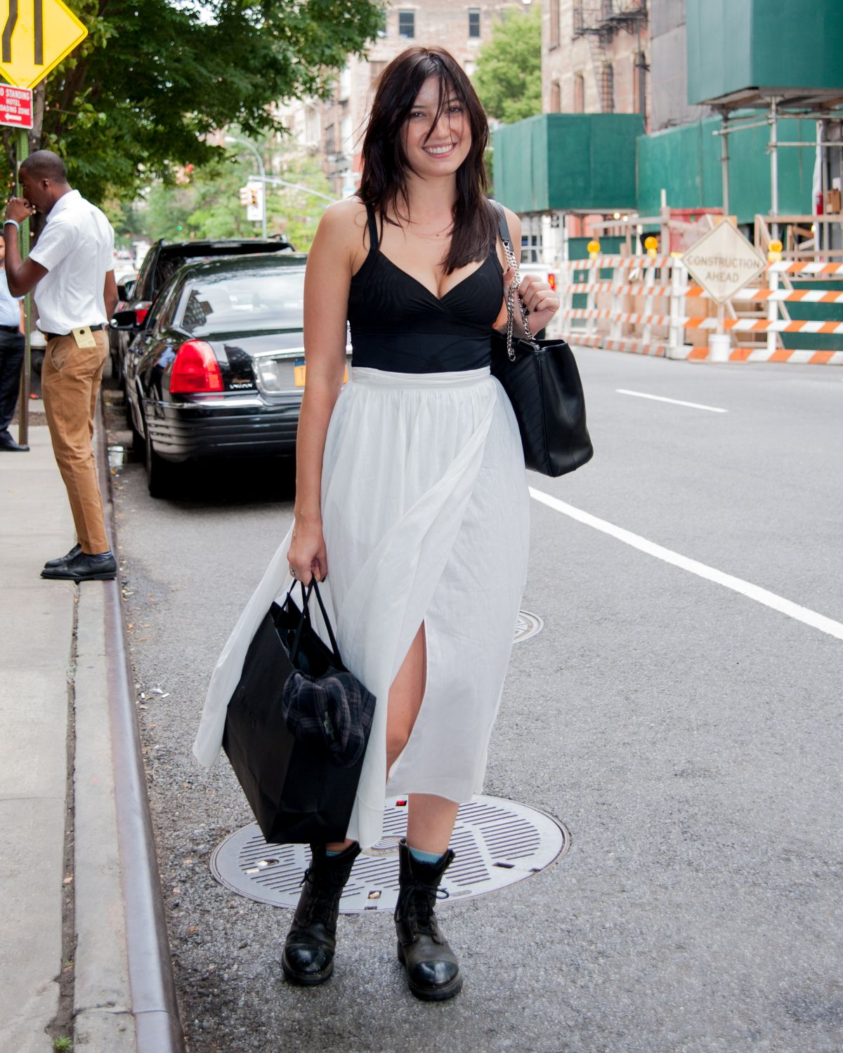 DAISY LOWE Out and About in New York