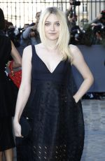DAKOTA FANNING at Christian Dior Fashion Show in Paris