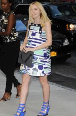 DAKOTA FANNING at Fashion Media Awards in New York