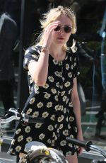 DAKOTA FANNING Oyt and About in New York 1209