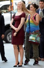 DEBORAH ANN WOLL on the Set of Daredevil in New York