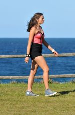 DEMI HARMAN on the Set of Home and Away at Palm Beach in Sydney