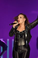 DEMI LOVATO in Spandex Performs at Neon Lights Tour in Miami