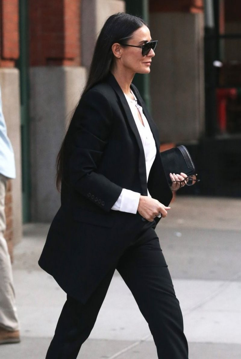 DEMI MOORE Out and About in New York