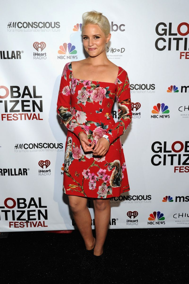 DIANNA AGRON at Global Citizen Festival VIP Lounge in New York