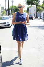 DIANNA AGRON in Short Dress Out and About in Los Angeles