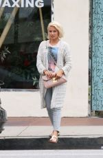 DIANNA AGRON Leaves a Nail Salon in Studio City