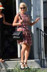 DIANNA AGRON Leaves Gracias Madre in West Hollywood