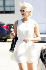 DIANNA AGRON Out Shopping in Beverly Hills