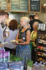 DIANNA AGRON Shopping at a Supermarket in Los Angeles