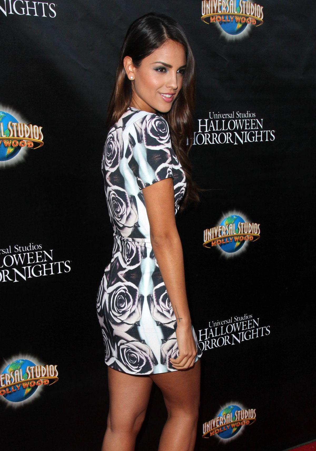 EIZA GONZALEZ at Universal Studios Hollywood Halloween Horror Nights Kick Off
