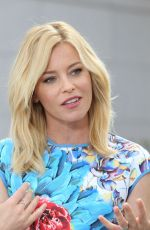ELIZABETH BANKS on the Set of Extra in Los Angeles