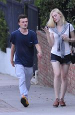 ELLE FANNING and Dylan Beck Out and About in Los Feliz