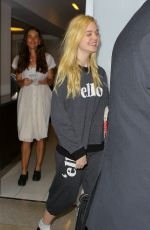 ELLE FANNING at LAX Airport in Los Angeles 0109