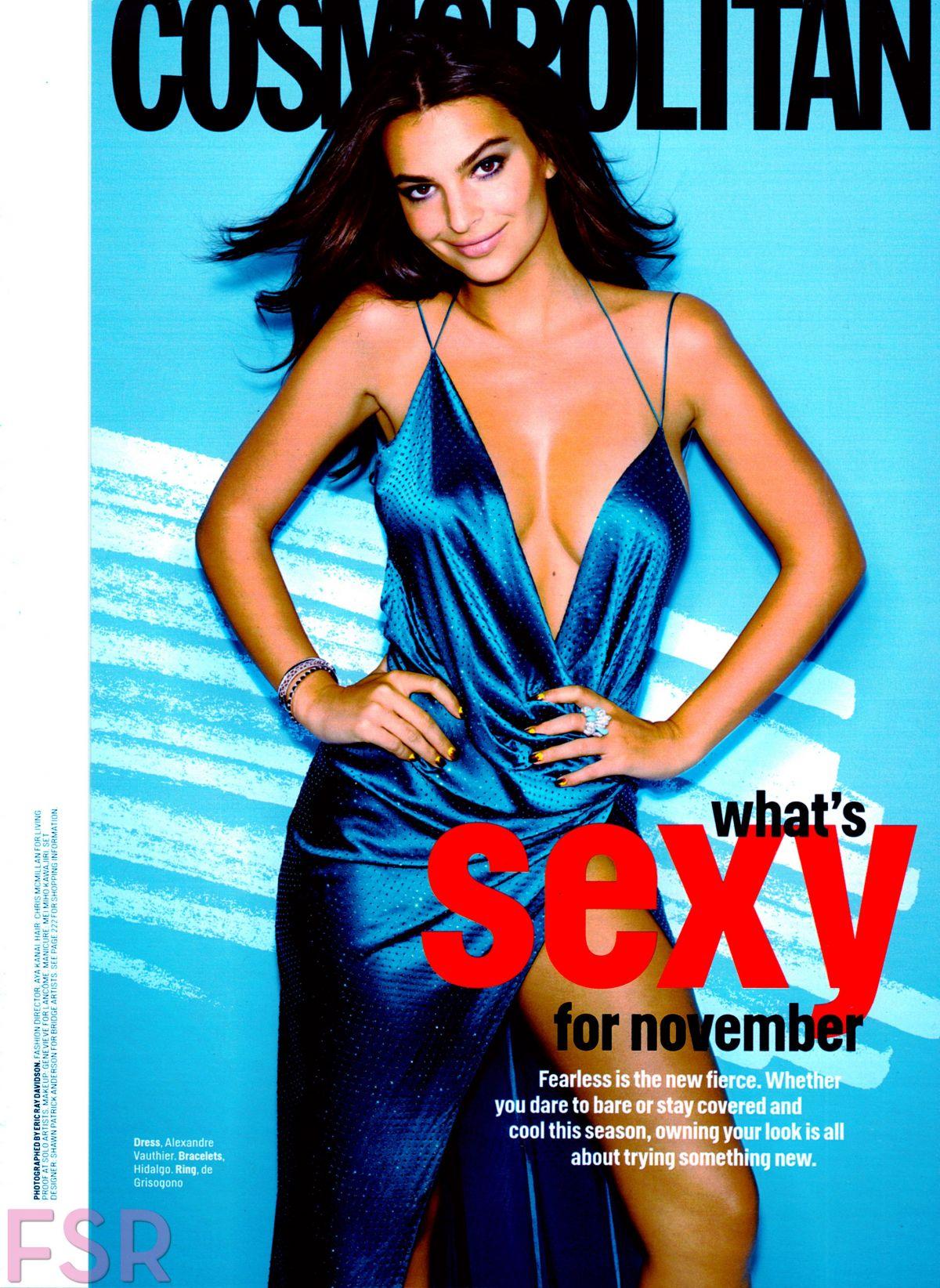 EMILY RATAJKOWSKI In Cosmopolitan Magazine, November 2014