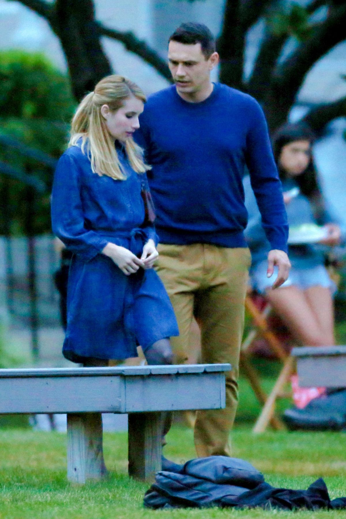 EMMA ROBERTS on the Michael Set in Long Island