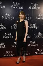 EMMA STONE at Magic in the Moonlight Premiere in Paris
