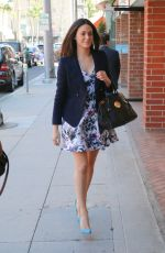 EMMY ROSSUM Arrives at a Nail Salon in Beverly Hills