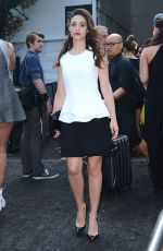 EMMY ROSSUM at Lincoln Center for the Performing Arts in New York