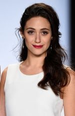 EMMY ROSSUM at Project Runway Fashion Show in New York
