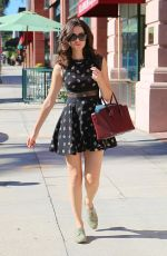 EMMY ROSSUM in Short Dress Out in Beverly Hills 2409