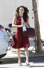EMMY ROSSUM Leaves a Birthday Party at Milk Studios in Hollywood
