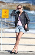 ERIN HEATHERTON Out and About at Bondi Beach in Sydney