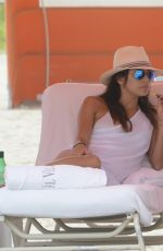 EVA LONGORIA and SERENA WILLIAMS on the Beach in Miami