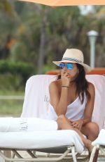 EVA LONGORIA and SERENA WILLIAMS on the Beach in Miami