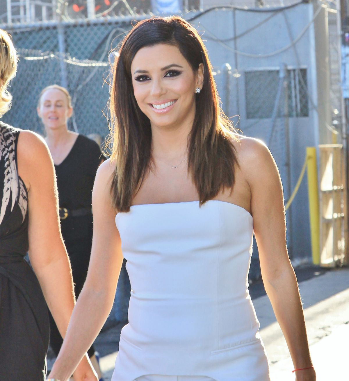 EVA LONGORIA Arrives at Jimmy Kimmel Live in Hollywood