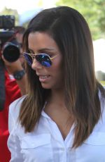 EVA LONGORIA Leaves Ken Paves Hair Salon in Los Angeles