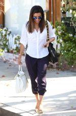 EVA LONGORIA Leaves Ken Paves Hair Salon in Los Angeles