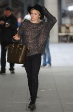 FEARNE COTTON Arrives at BBC Radio 1 Studios in London