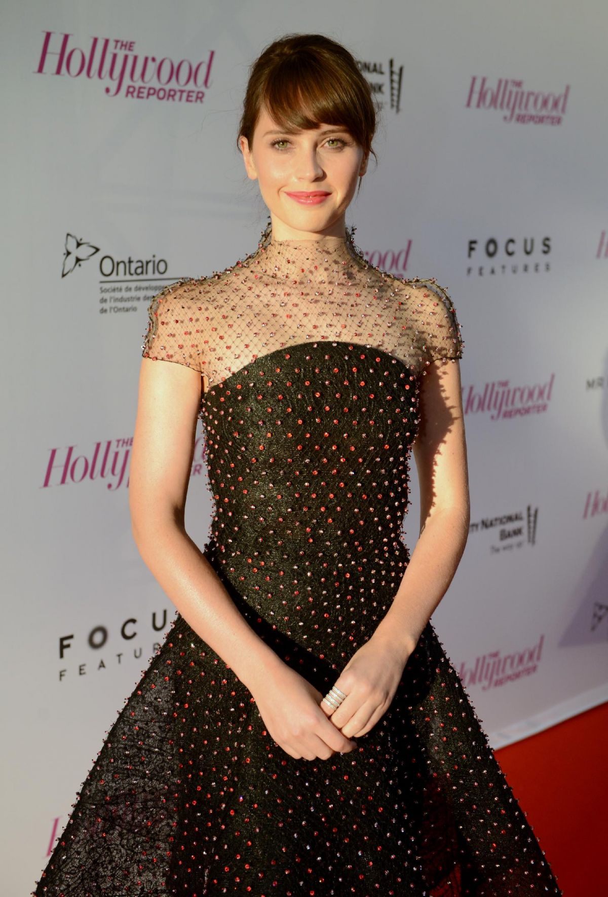 FELICITY JONES at Breakthrough in Film Award Honorees Celebration in Toronto