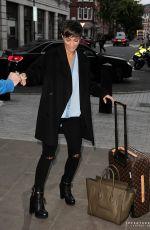 FRANKIE BRIDGE Arrives at BBC Radio 1 Studios in London