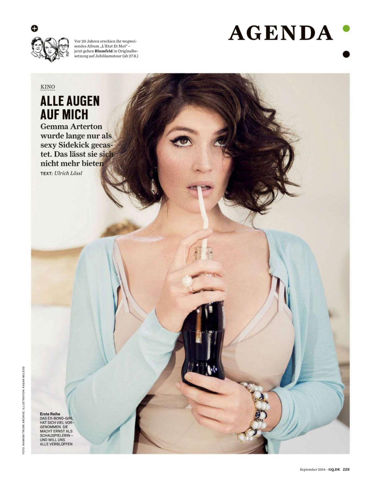 GEMMA ARTERTON in GQ Magazine, Germany September 2014 Issue