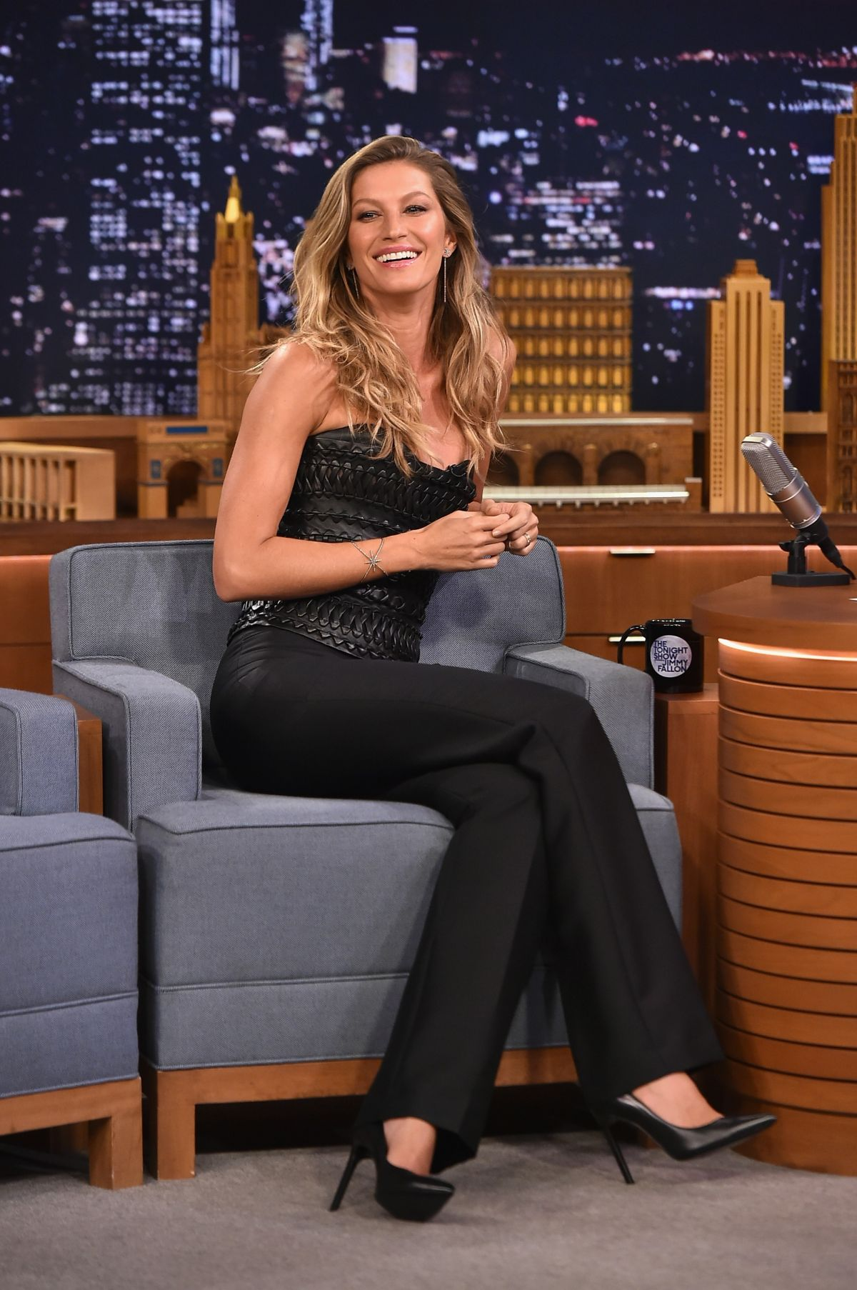 GISELE BUNDCHEN at The Tonight Show Starring Jimmy Fallon