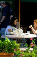 HAILEE STEINFELD and SOPHIE TURNER Enjoying Some Frozen Yogurt in Malibu