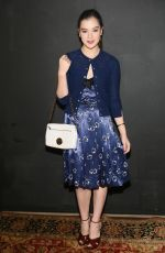HAILEE STEINFELD at Marc Jacobs Fashion Show in New York